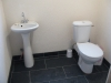 one of the two toilets in the lodge